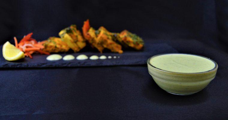 Yogurt Mint Sauce (Restaurant style recipe with Video)
