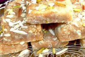 besan coconut barfi
