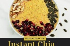 instant chia persimmon porridge