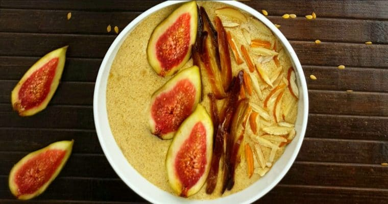 Flaxseed Porridge (Vegan Porridge Recipe + Video)