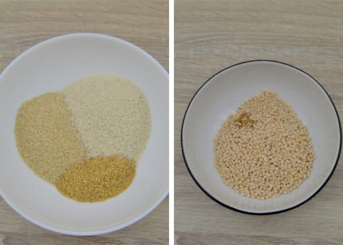 millets in 1st bowl & dal in 2nd bowl